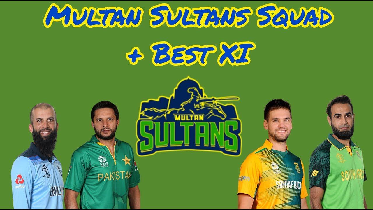 Multan Sultans | PSL5 Squad + Best XI | HBLPSLFANS