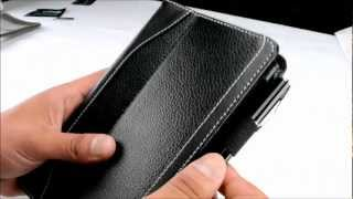 caseen skinny genuine leather hand strap stand case cover designo series for google nexus 7 tablet