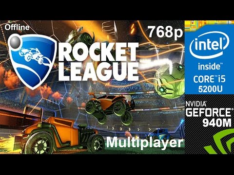 Rocket League on HP Pavilion 15-ab032TX, Max Setting 768p, Core i5 5200u + Nvidia Geforce 940m