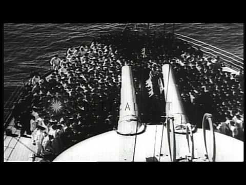 German invasion of Denmark and Norway, during World War II (Operation Weserubung) HD Stock Footage