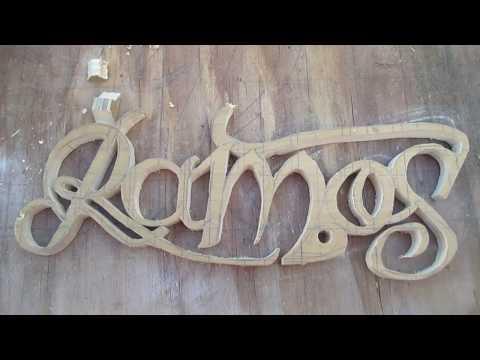 DIY: Wood carve script letter