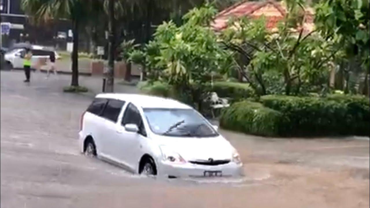 (SINGAPORE, June 2019) Flash Floods Hit Parts of Singapore on 3th June 2019