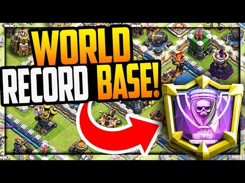 WORLD RECORD BASE! Clash of Clans Defense - the FIRST of its Kind! | CoC |