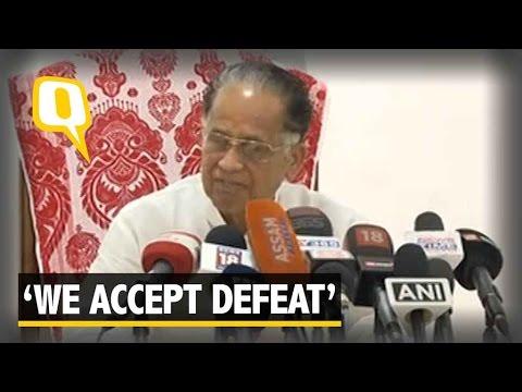 The Quint: Tarun Gogoi Accepts Defeat Gracefully