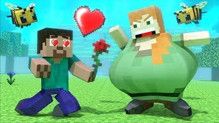 Alex And Steve In LOVE!? - Love Story Minecraft Animation Life