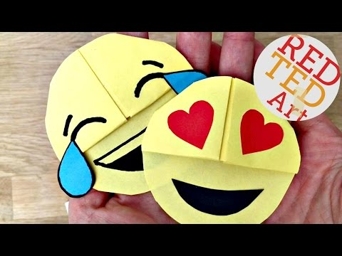 Easy Emoji DIY Bookmark Corners (Paper Crafts)