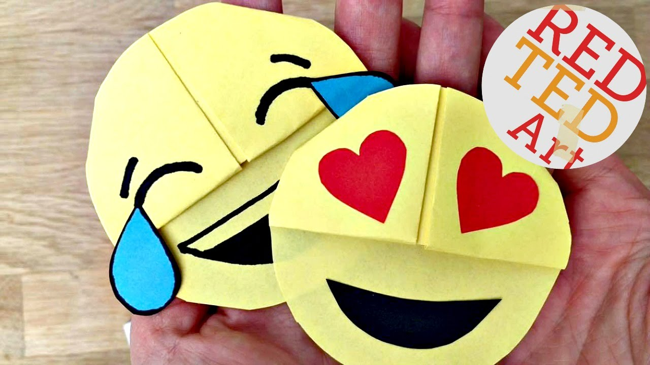 Easy Emoji DIY Bookmark Corners Paper Crafts