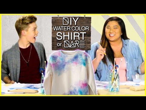 DIY Watercolor Shirt?!  DIDare w MissRemiAshten & Aidan Alexander