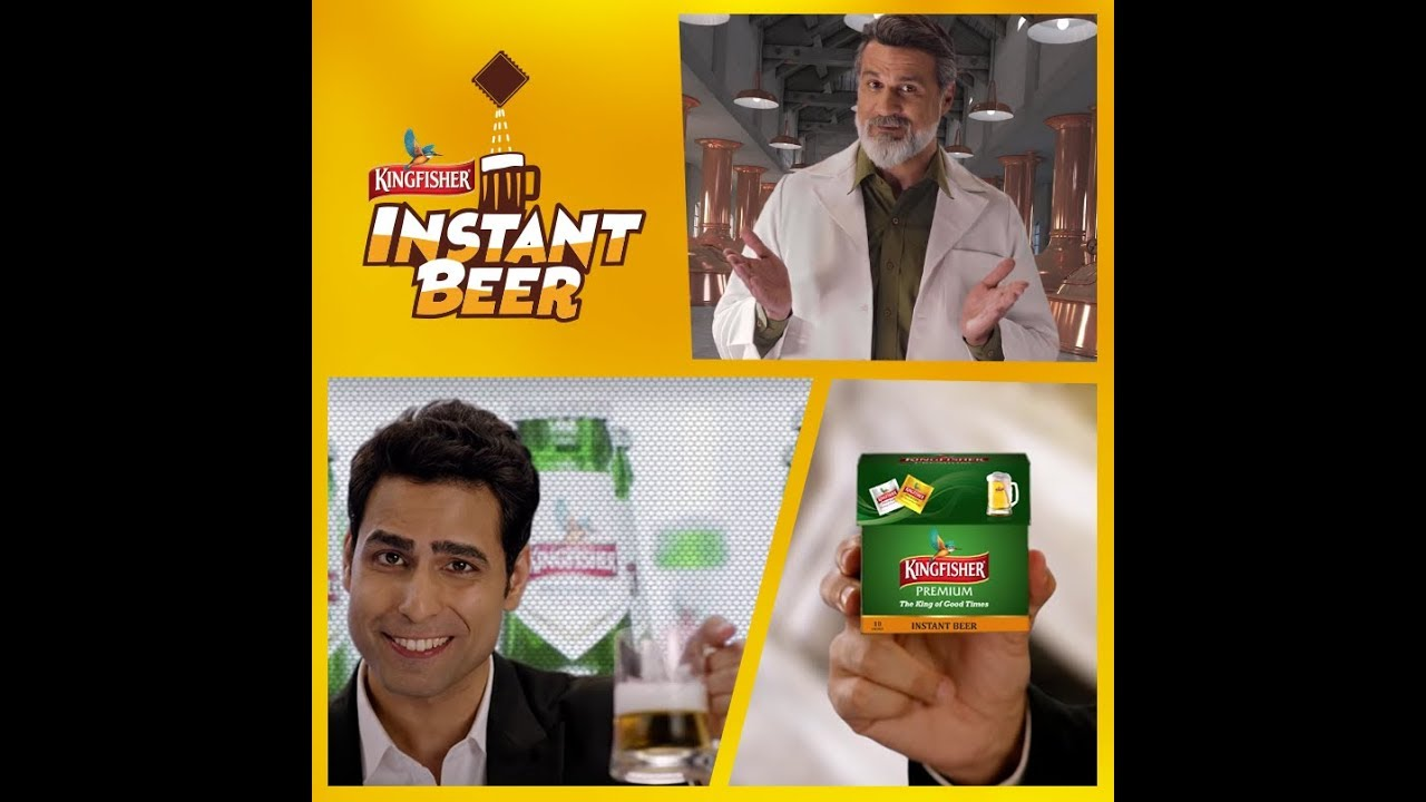 Image result for kingfisher instant beer