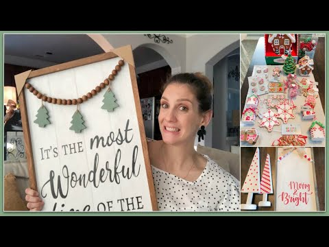 HUGE HOBBY LOBBY HAUL | SHOPPING FOR CHRISTMAS DECOR?! - Gingerbread and Peppermint Theme