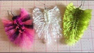 Crochet Feather Earrings