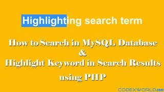 Highlight Keyword in Search Results with PHP and MySQL