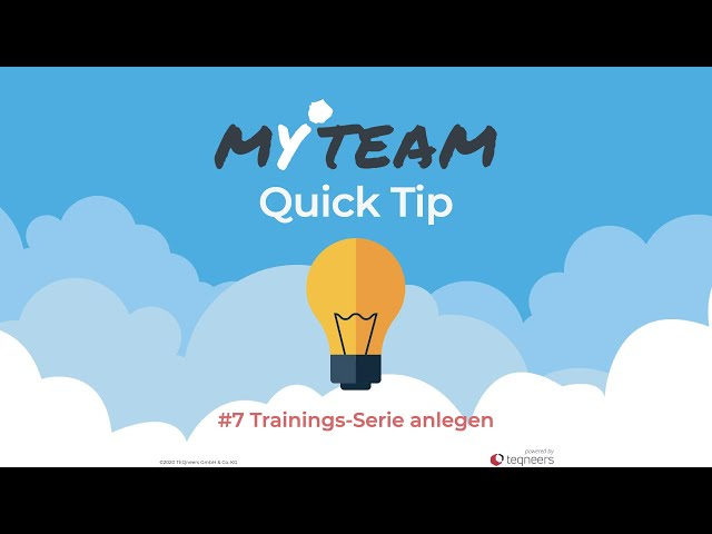 myteam Tip #7: Trainings-Serie anlegen