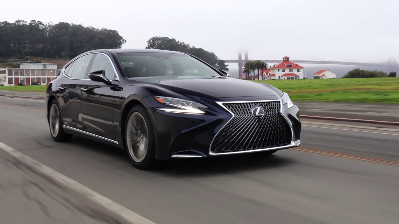 2018 lexus ls 500 h awd driving video in nightfal mica youtube. Black Bedroom Furniture Sets. Home Design Ideas