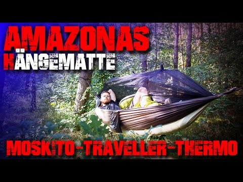 AMAZONAS HÄNGEMATTE - Moskito Traveller Thermo - T-Strap - Outdoor Survival Bushcraft