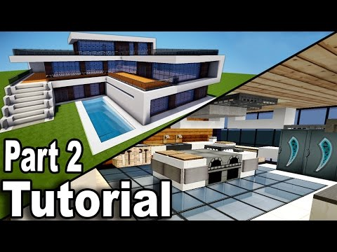 Minecraft: Realistic Modern House Tutorial Part 2 / Interior / How to Build A House