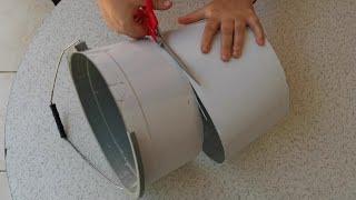 KIRIK PLASTİK KOVA BAKIN NE HALE GELDİ RECYCLE DIY переработка отходов