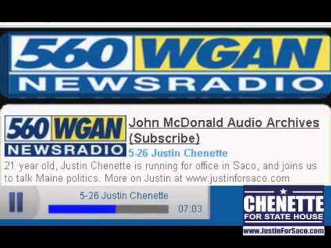 560 WGAN Newsradio: Justin Chenette Talks Campaign