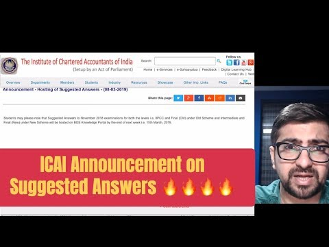 ICAI Announcement on Suggested Answers 🔥🔥🔥| My Views