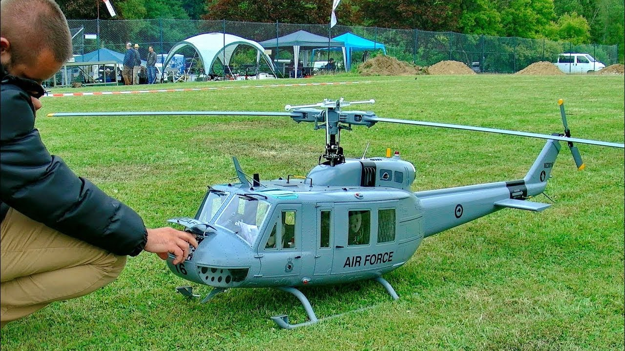 Huey Helicopter For Sale >> HUGE RC BELL UH-1D HUEY VARIO TURBINE SCALE MODEL HELICOPTER DEMO FLIGHT - YouTube