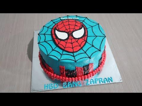 Cara Membuat Kue Ulang Tahun Spiderman In Real Life Resep Kue Ultah Youtube