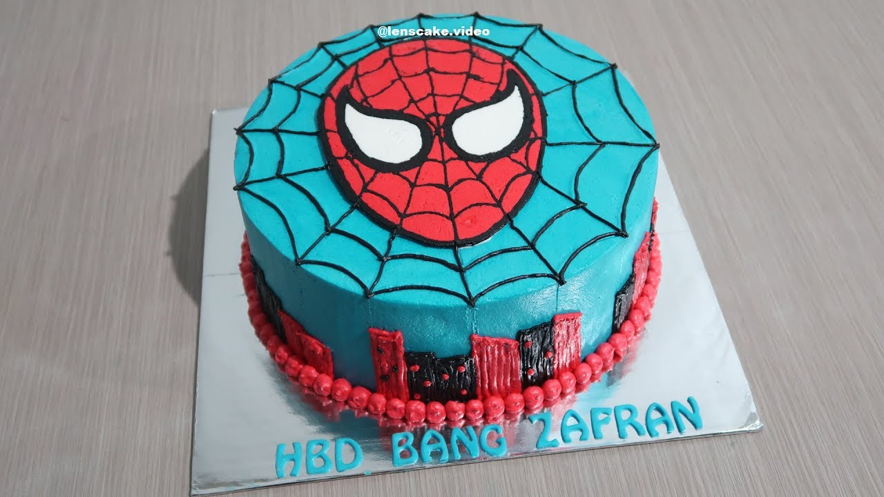 Year Old Spiderman Birthday Cake