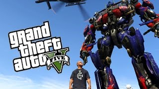 WIELKI OPTIMUS PRIME! | GTA 5 PC MODY