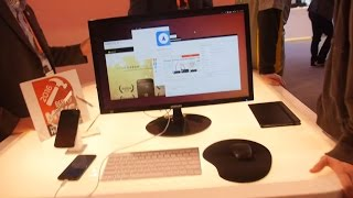 Ubuntu booth tour at MWC 2016, Convergence, Phones, Tablets, Drones, IoT and more
