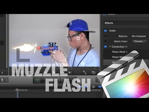 How to Muzzle Flash in Final Cut Pro X