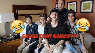 Guess that dance move pt.2 w/ Brennen Taylor 99goonsquad Mario Selman and Weston Koury