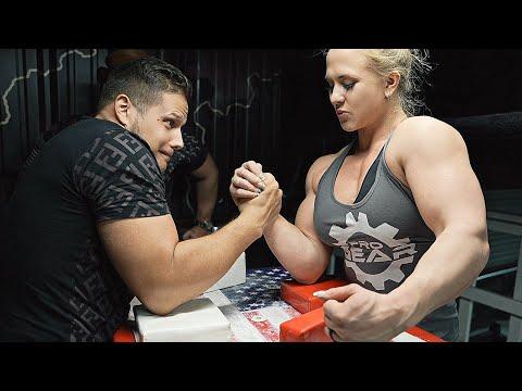 Arm Wrestling Vs 8X World Champion Sarah Backman 2021