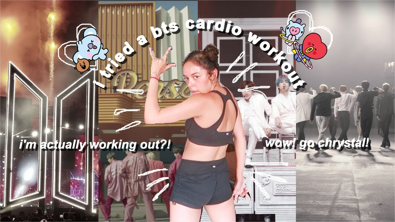 i tried a bts cardio workout.. bring the pain on!! (×﹏×)