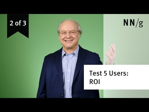 Usability Testing w. 5 Users: ROI Criteria (video 2 of 3)