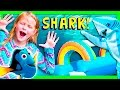 ASSISTANT Finding Dory Shark Attack Mickey Mouse Inflateable Bounce House Funny Kids Video