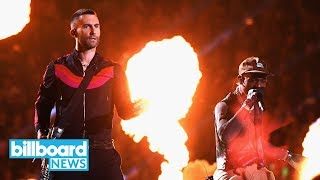 Maroon 5 Travis Scott and Big Boi Deliver Fiery Super Bowl LIII Halftime Show Billboard News