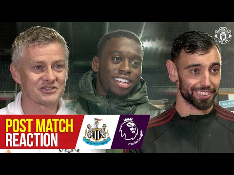 Solskjaer, Fernandes and Wan-Bissaka react to Reds win | Newcastle United 1-4 Manchester United