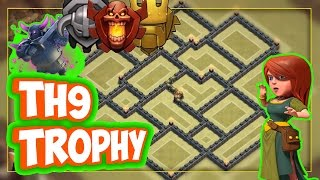 Clash of Clans | Town Hall 9 (Th9) Trophy Base | Champion/Master League Base Design
