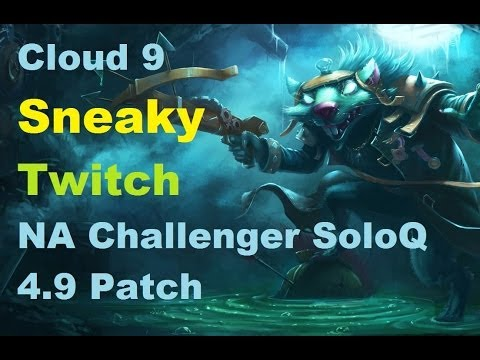 Cloud 9 Sneaky Twitch vs BigfatLP Ashe | NA Challenger SoloQ 4.9 Patch | Full HD 1080p