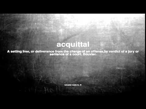 What Does Acquittal Mean
