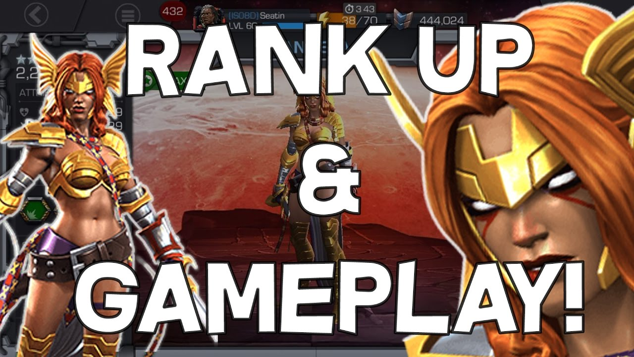 Angela Rank Up, Ability Overview & Gameplay! - Marvel