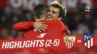 Resumen de Sevilla FC vs Atlético de Madrid (2-5)