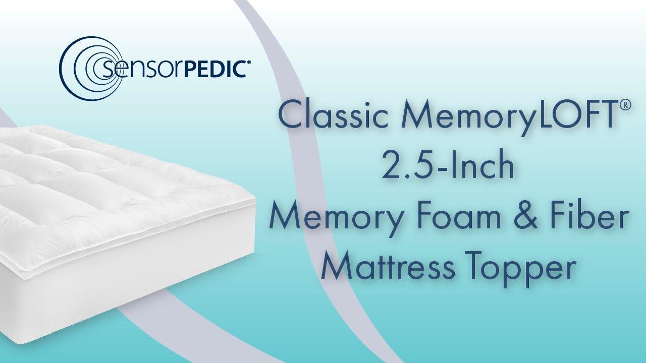 Sensorpedic Classic Memoryloft 2 5 Inch Memory Foam And Fiber