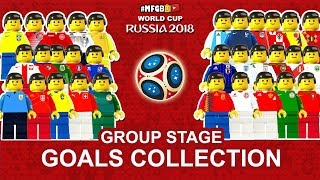 World Cup 2018 Goals Collection • Top Goals Group Stage Russia 2018 in Lego Football Film Animation