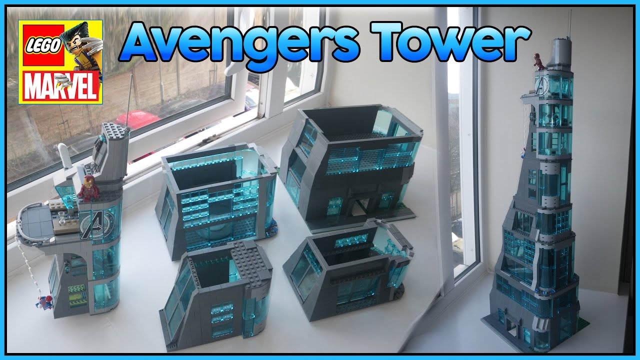 marvel lego stark tower