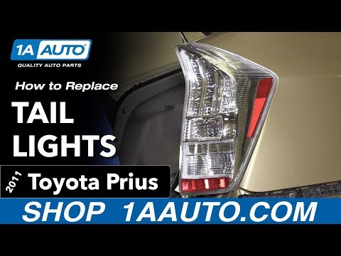 How to Replace Install Tail Lights 2011 Toyota Prius