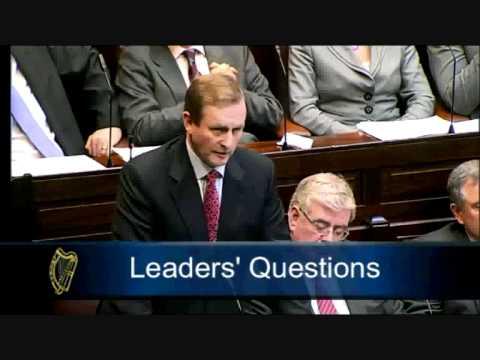 "Joe Higgins TD questions Enda Kenny during Leaders' Questions on ""renegotiation"" (15-03-11)"