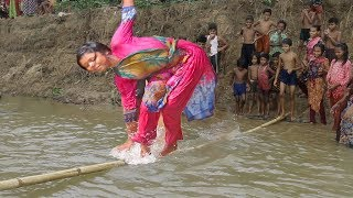 funny moments of village sports  |  traditional game by village girls