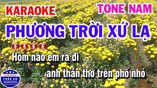Karaoke Phương Trời Xứ Lạ || Nhạc Sống Tone Nam Karaoke Tuấn Cò
