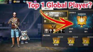 Free fire top 1 Gl๐bal player Gameplay in Secson 15 Rank -2020 India || Secson 15 Highlight