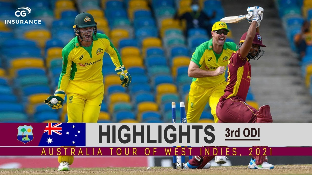 West Indies vs Australia Highlights | 3rd ODI | Australia tour of West Indies 2021